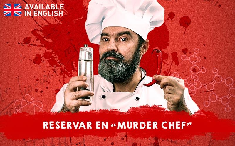Banner reservar Murder Chef